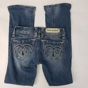 Rock Revival Adele Distressed Boot Cut Size 27